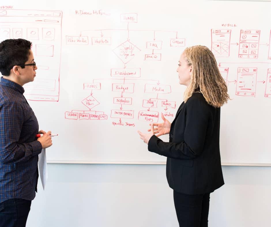 Richardson Marketing employees talking about the best search engine optimisation strategy